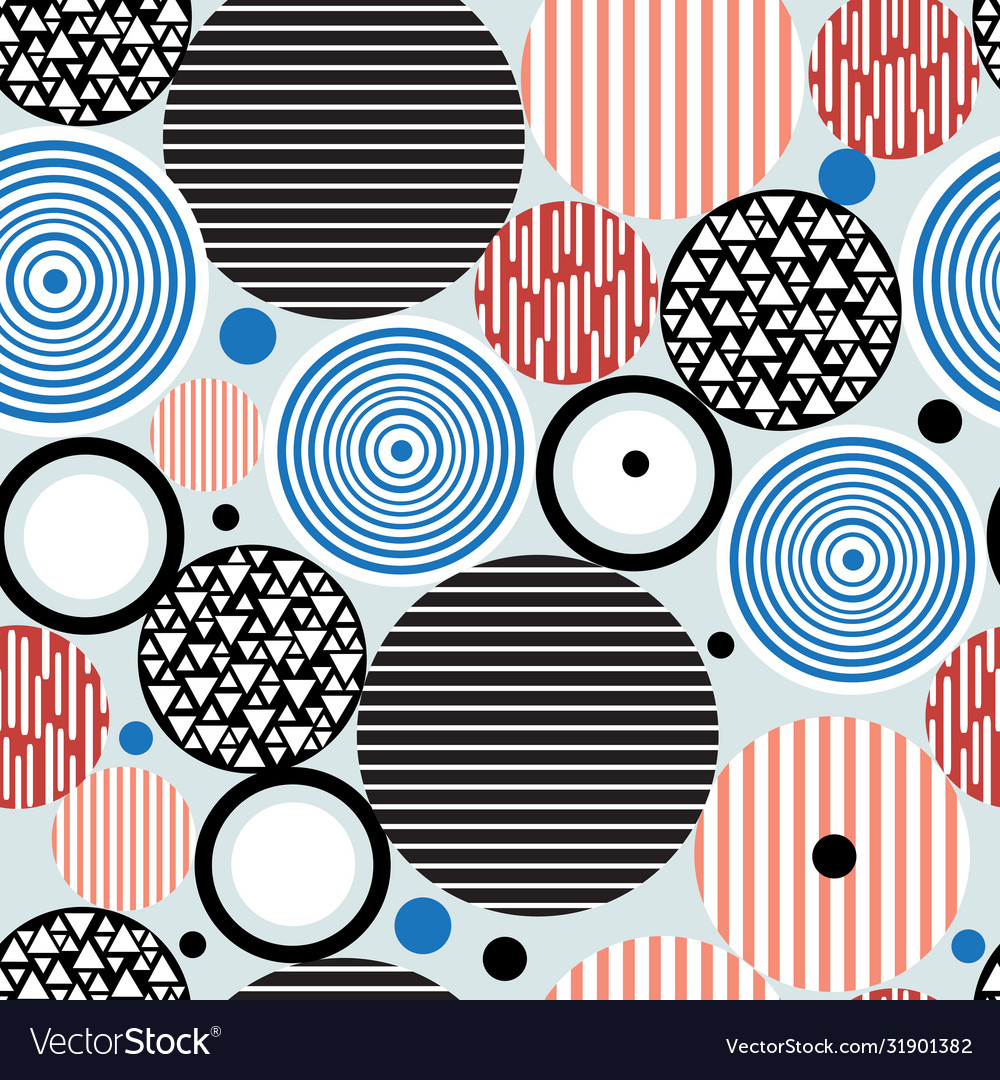 Abstract geometric pattern circles