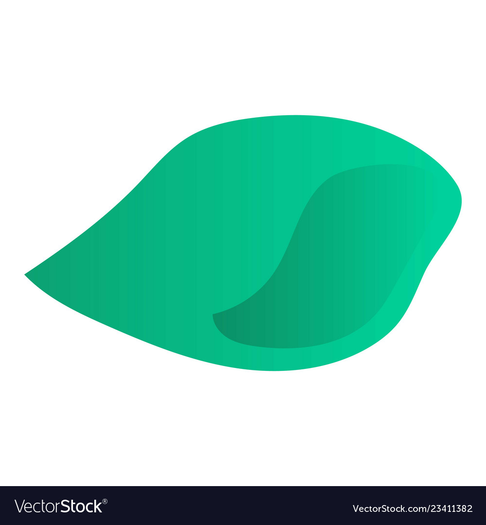 Abstract leaf icon isometric style