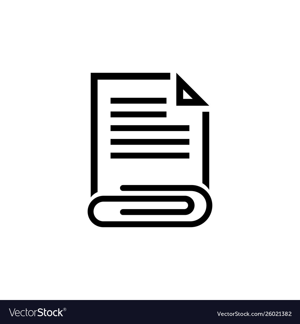Attached document file and clip icon