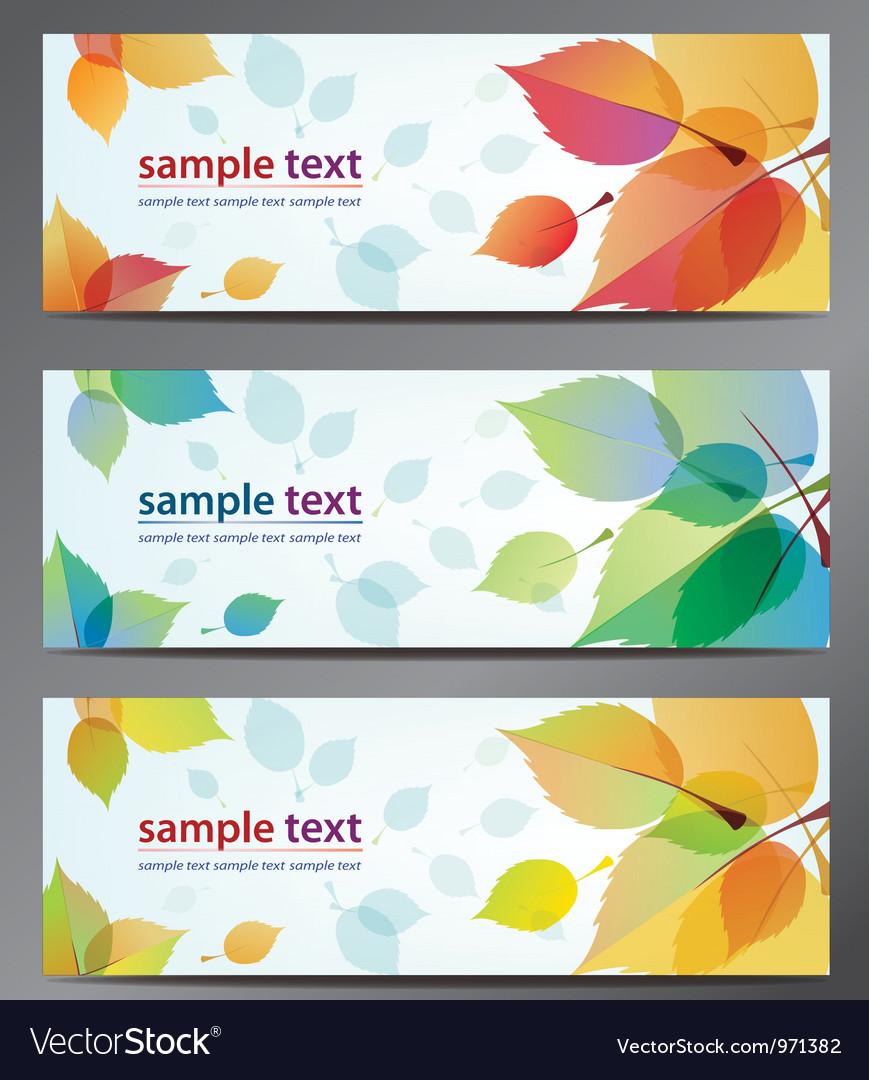 Autumn leaves background brochure