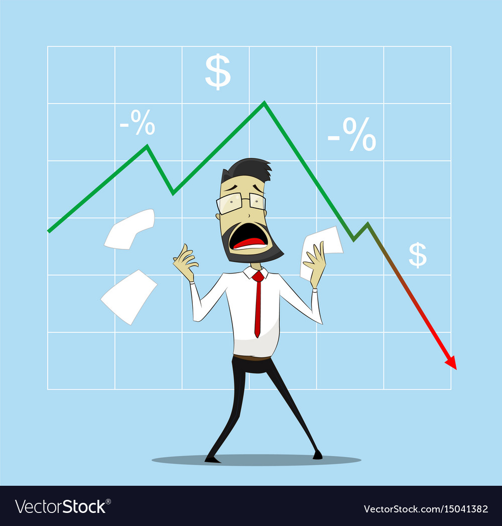 Businessman in panic vector image