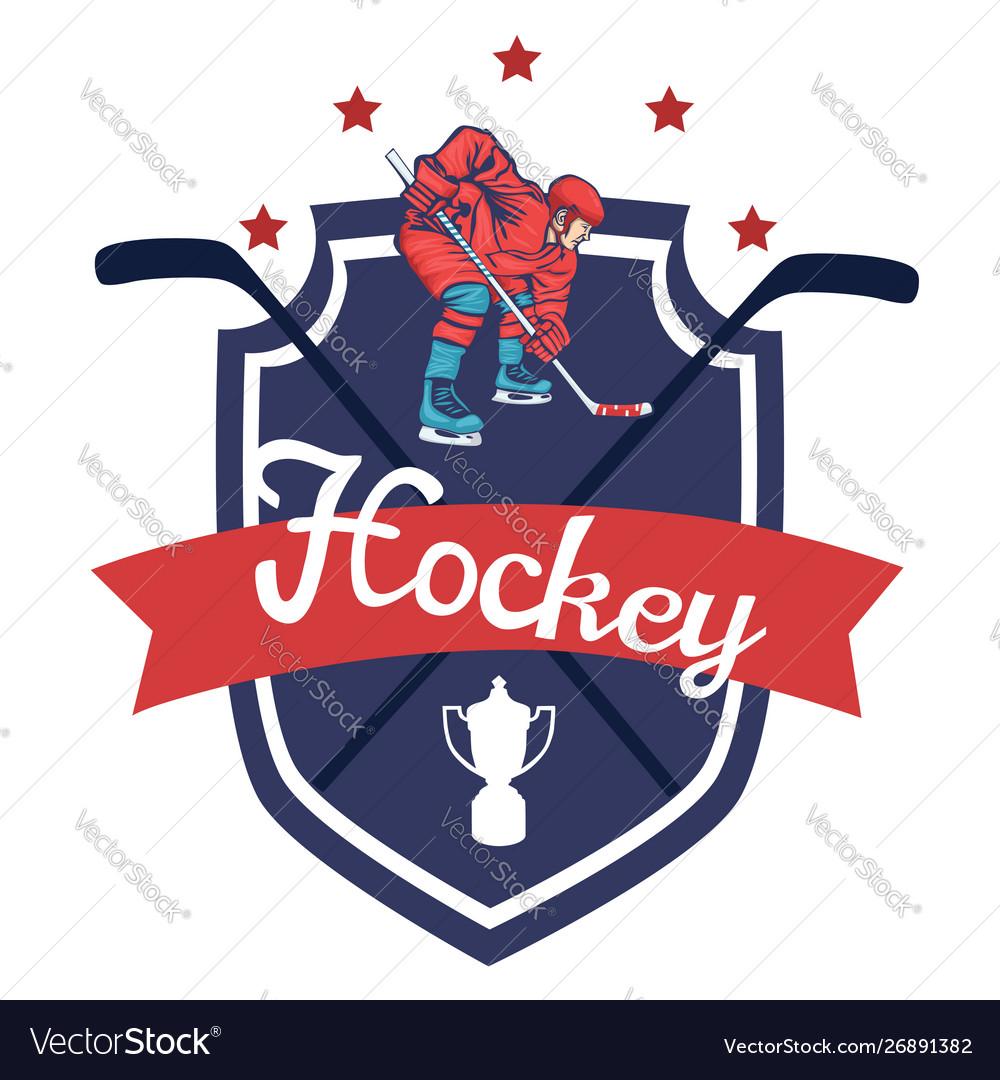 Hockey logo isolated on white background