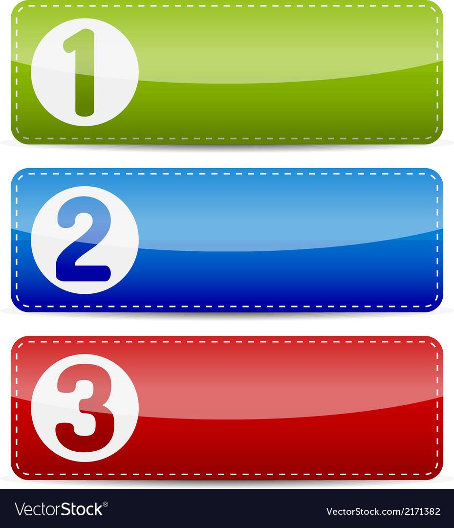Numbered color step list banner
