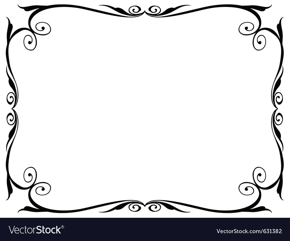 Simple ornamental decorative frame Royalty Free Vector Image