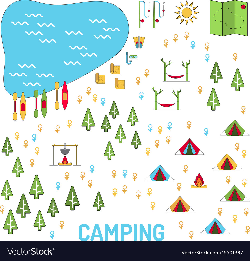 Camping map set