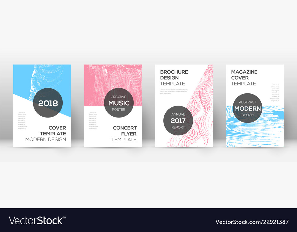 Cover Page Design Template Modern Brochure Layout Vector Image On Vectorstock