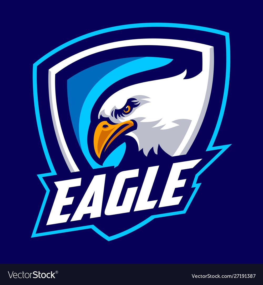 Eagle mascot logo sport