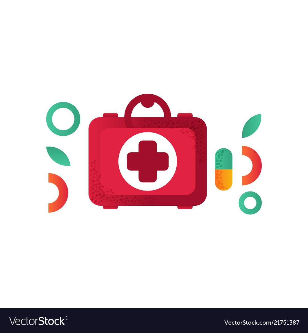First aid kit medical help symbol