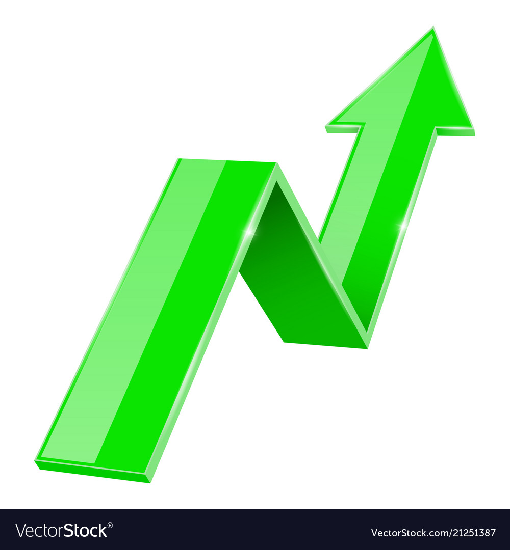 Green up arrow image — 2