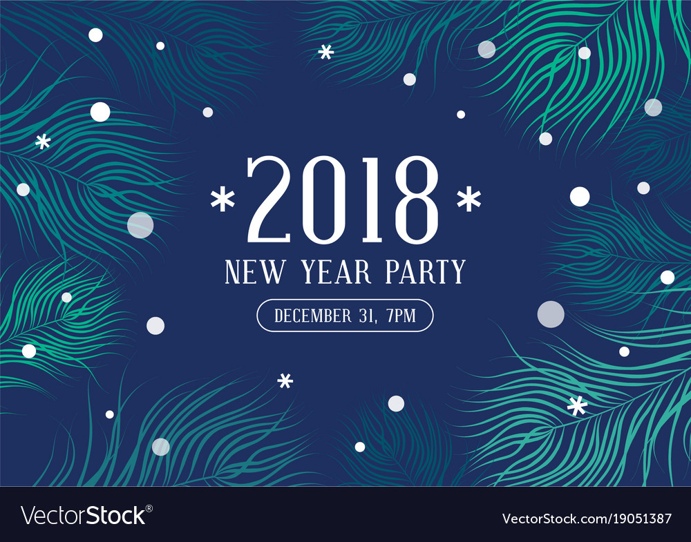 Happy new year 2018 party invitation Royalty Free Vector