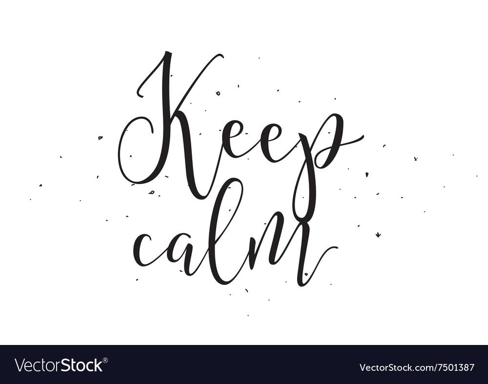 Keep calm inscription greeting card