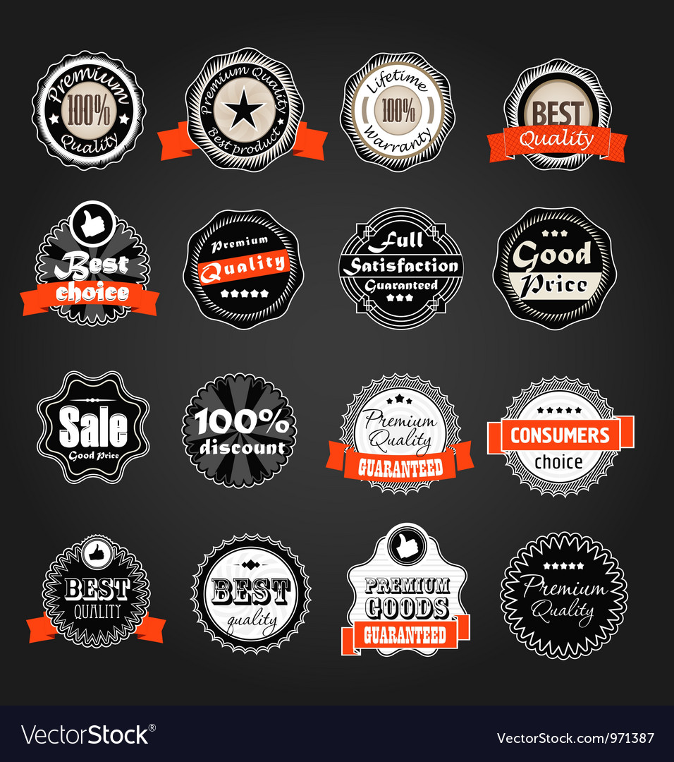 Shopping labels collection vector image