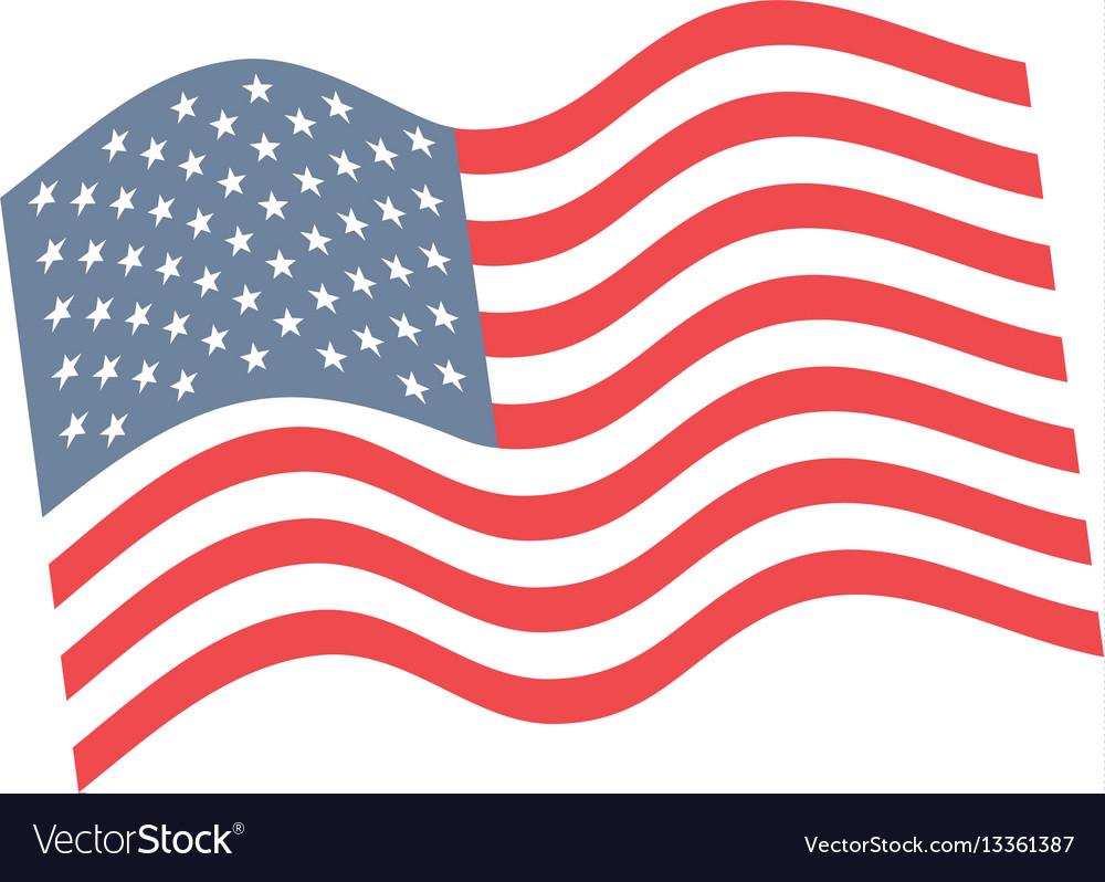 United states of america flag emblem