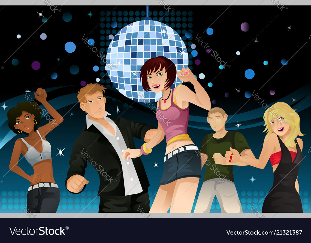 Young people partying