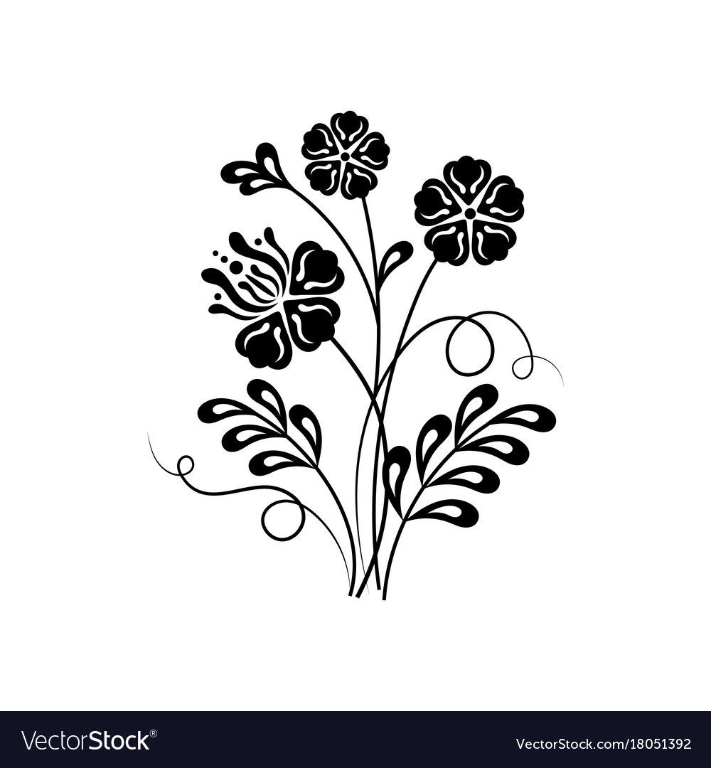 Beautiful Floral Background In Black And White Vector Image,Personalized Gift Ideas For Girls