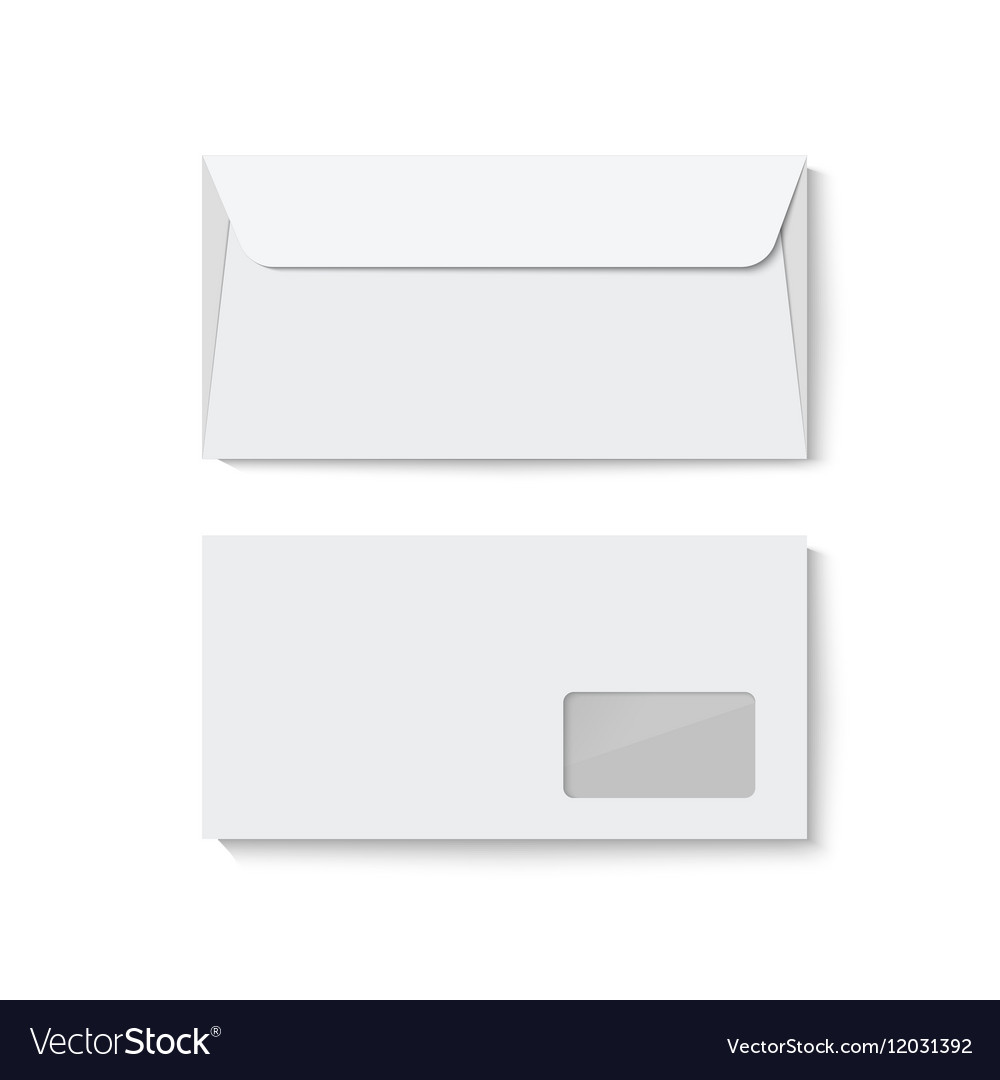 closed blank envelope template isolated on white vector image