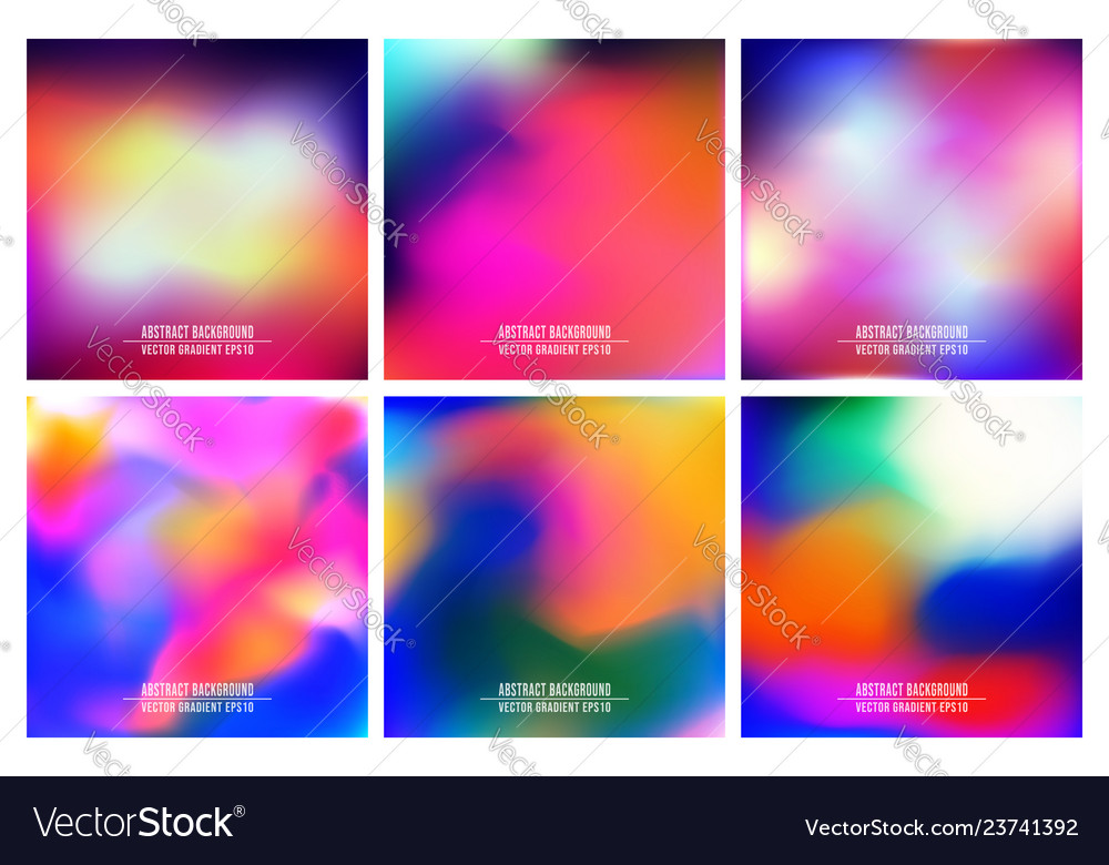 Colorful gradient background set for printing