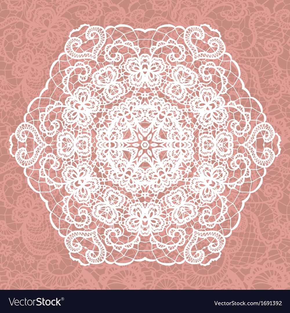 Elegant lacy doily snowflake