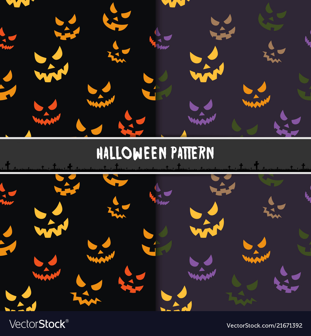 Halloween seamless pattern with scary stare