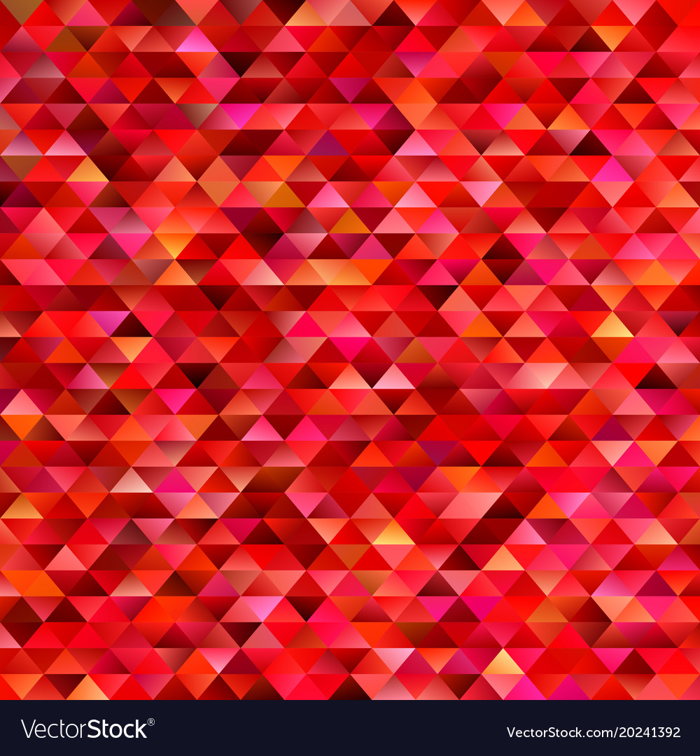 Red geometrical abstract triangle mosaic