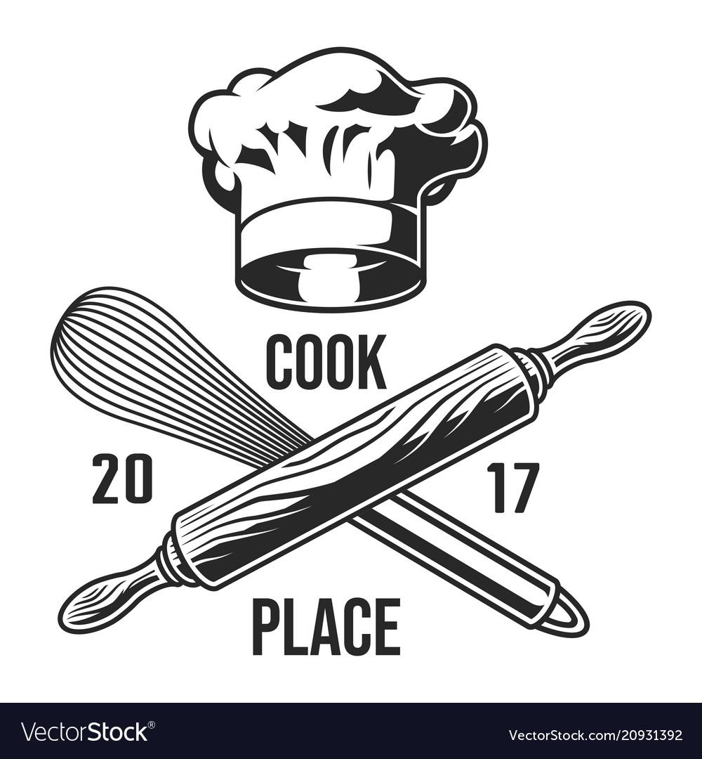 Vintage Kitchen Utensils Logotype Vector Image