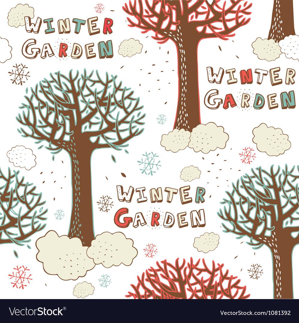 Winter Garden Seamless Pattern