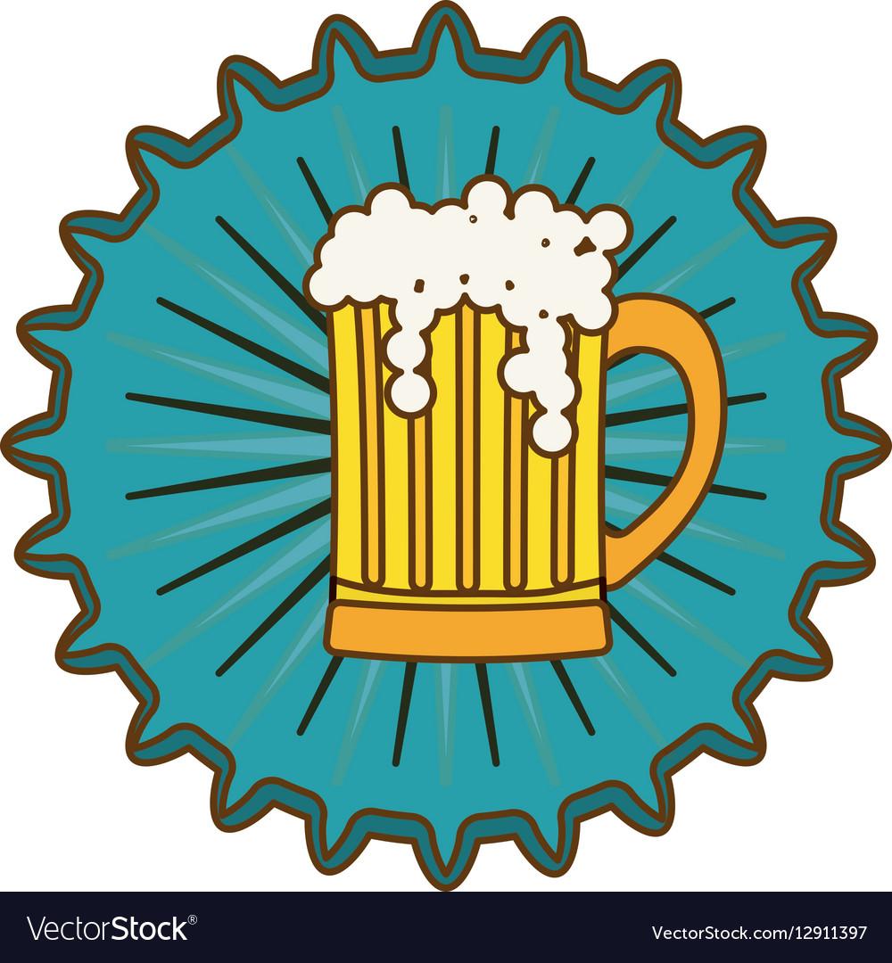 Beer cap emblem icon image