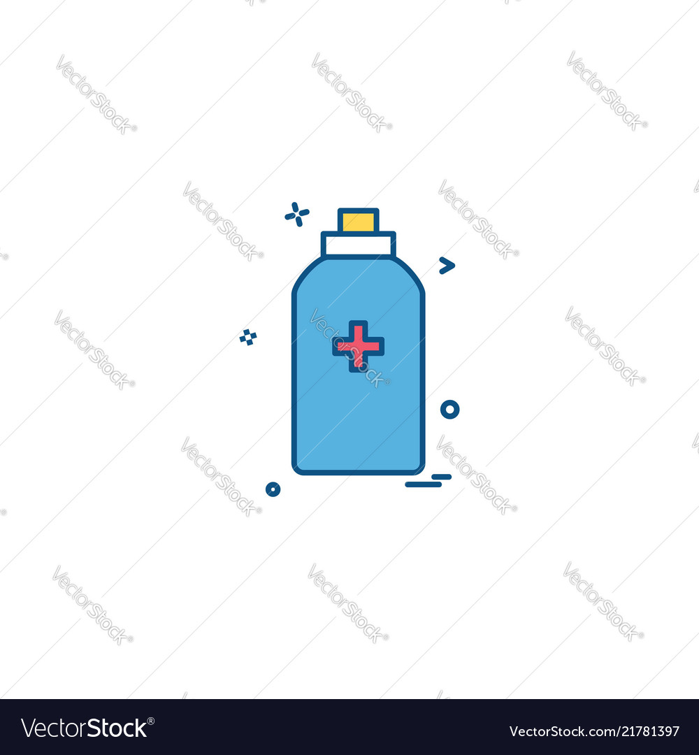 Bottle tool first aid spary icon design