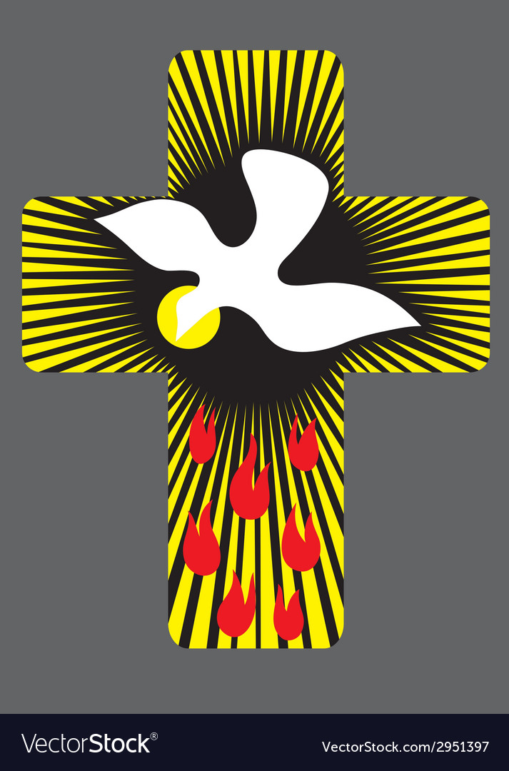 Cross with Holy spirit vector image