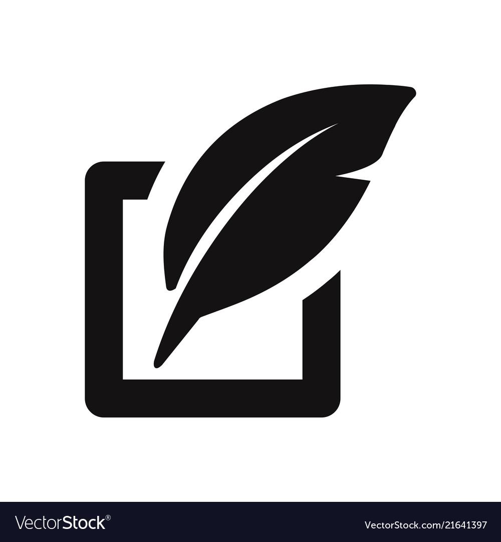 Edit icon isolated on white background modern