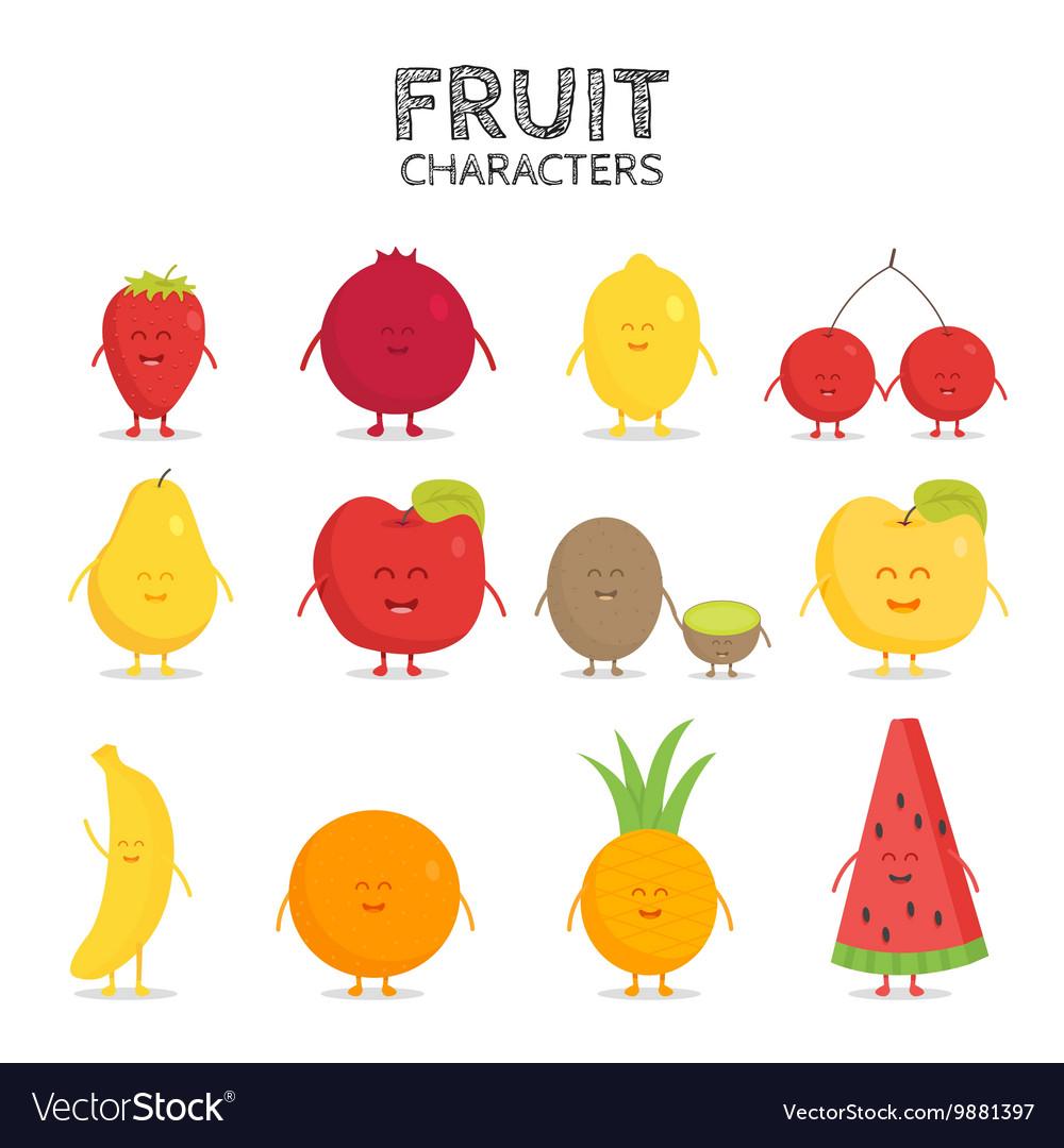 Fruit set Strawberry pomegranate lemon cherry