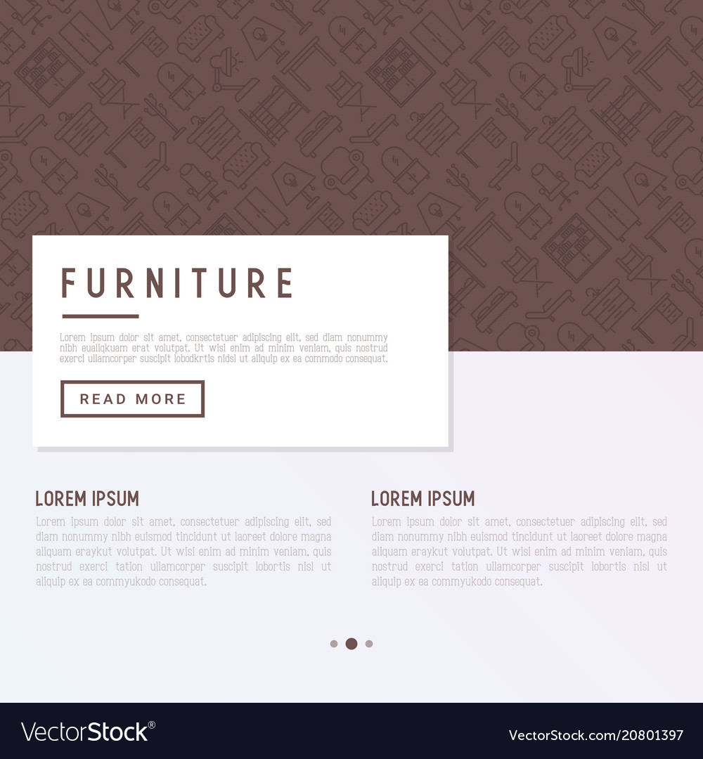 Furniture concept with thin line icons