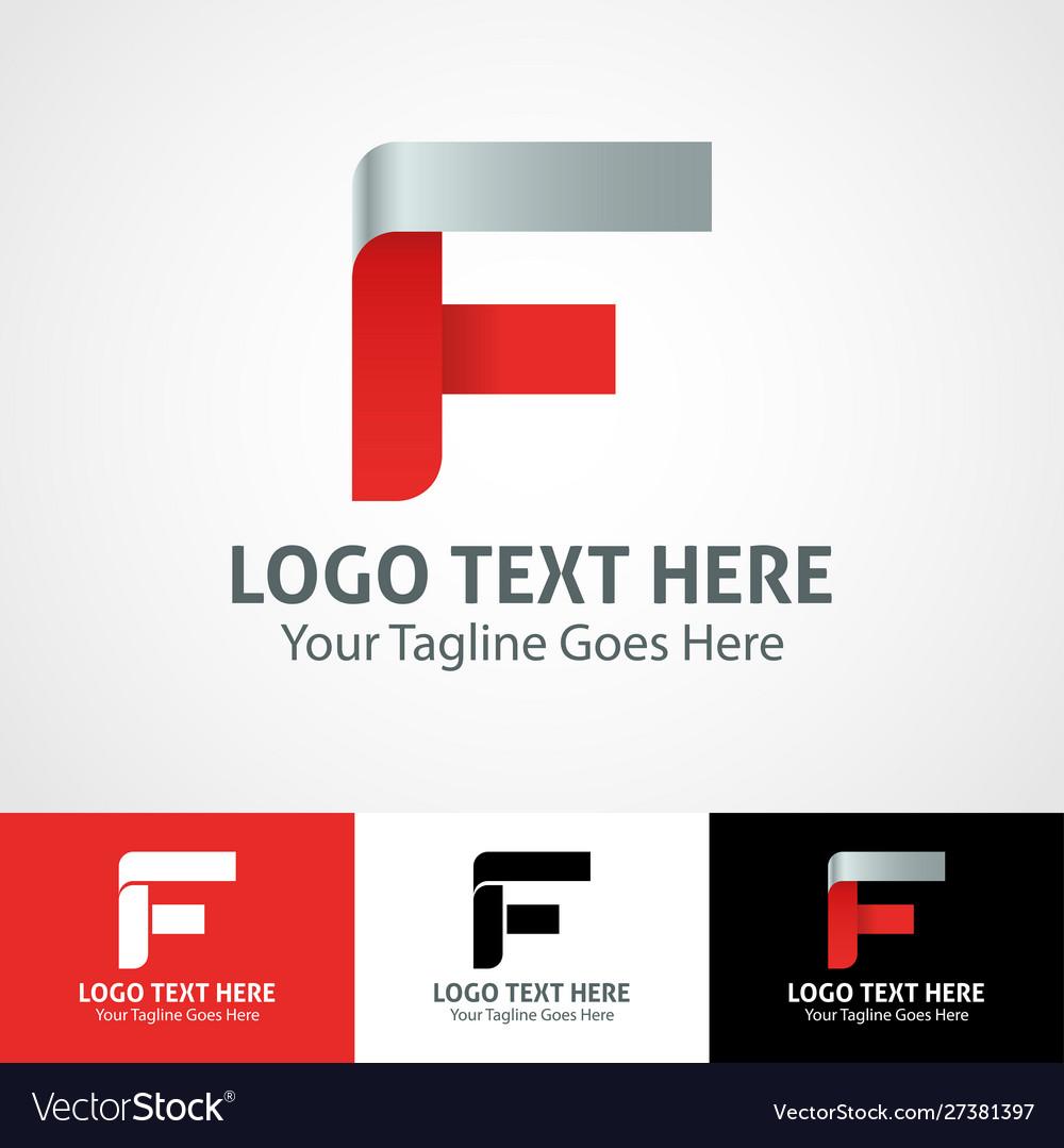 Hi-tech trendy initial icon logo f