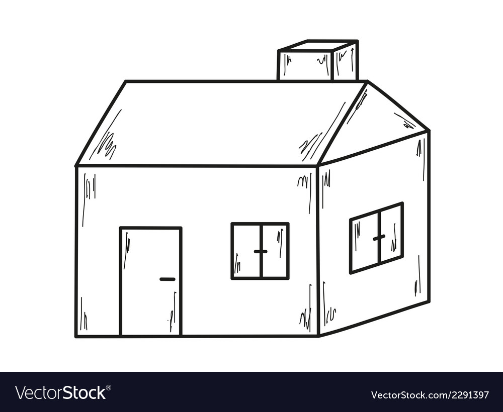 Superb Sketch Of The Small House Vector Image