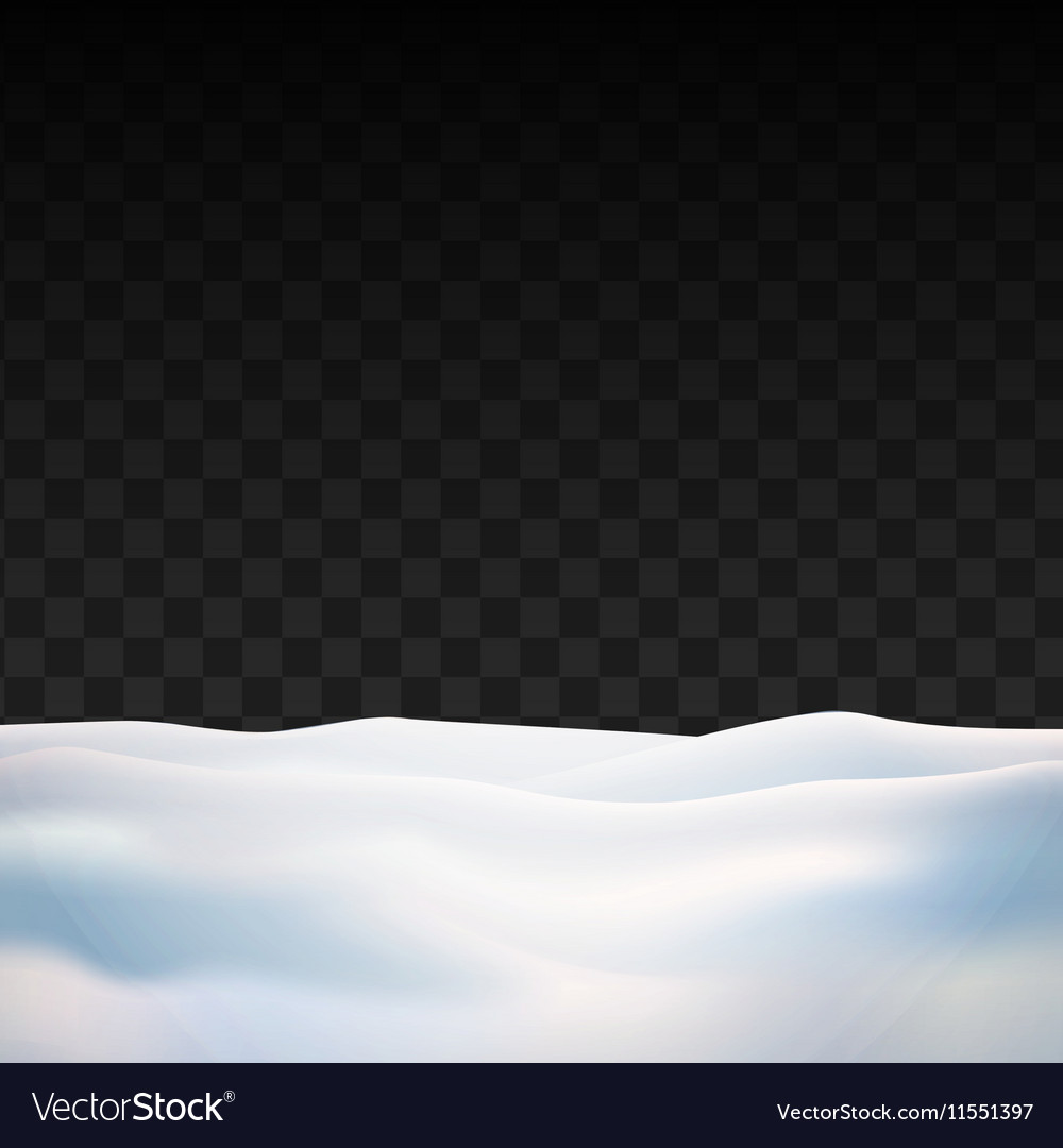 Snow on transparent background Winter snowfall