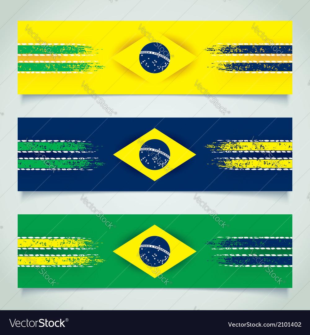 Abstract design Brazilian flag vector image