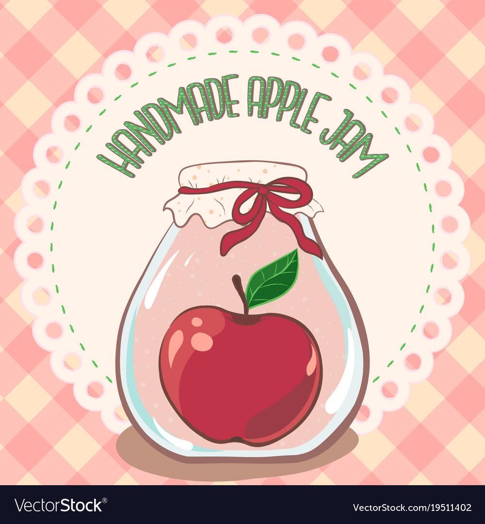 Apple Jam Label Printable Jar Template Vector Image