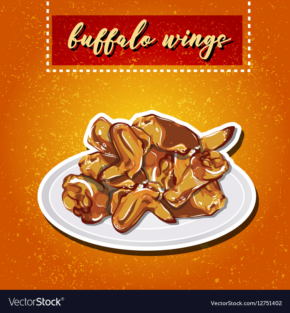Buffalo wings on a plate