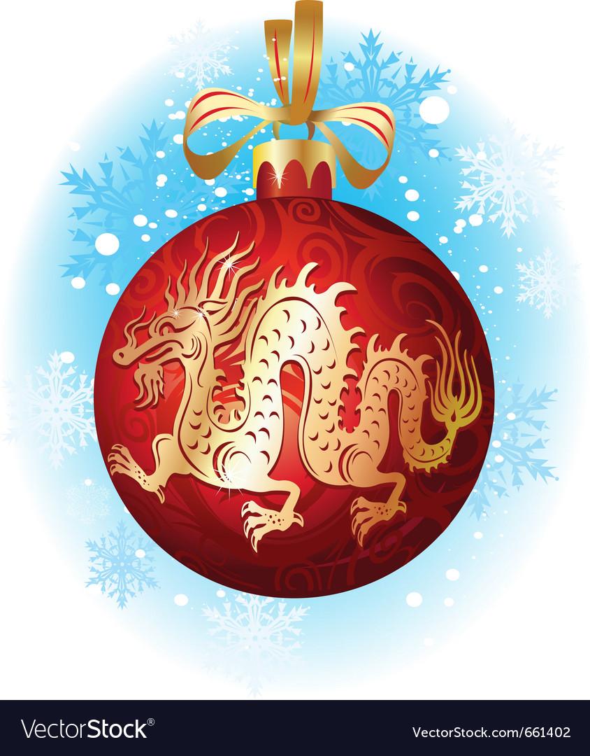 Christmas Dragon.Chinese Christmas Dragon