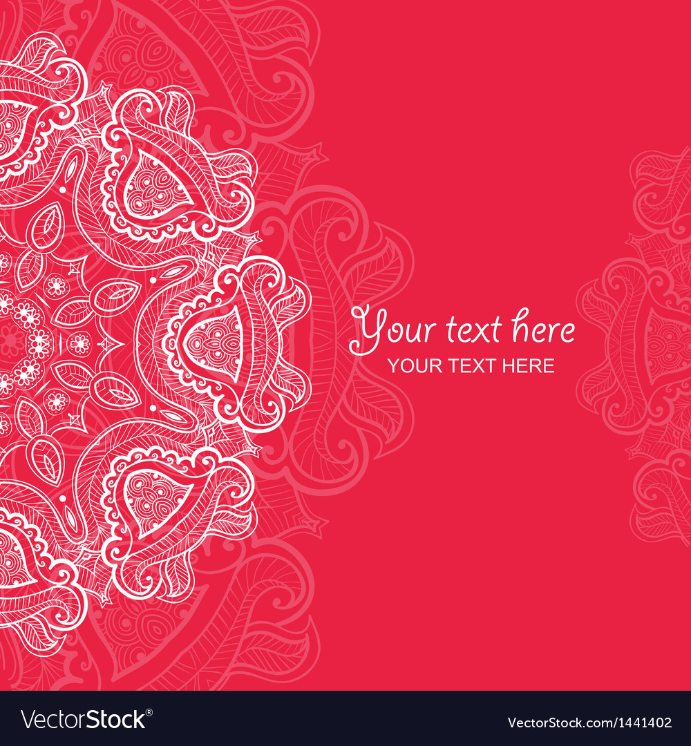 Invitation card with lace ornament 4 royalty free vector invitation card with lace ornament 4 vector image stopboris Gallery