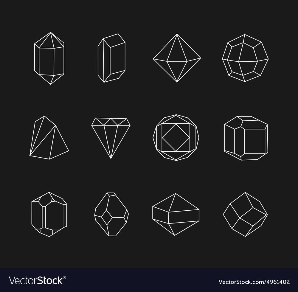 Set line geometric shapes for logo
