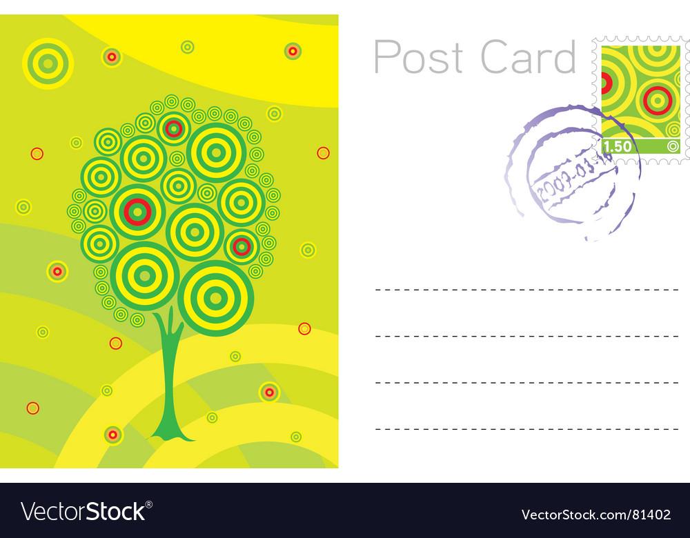 Summer post card template