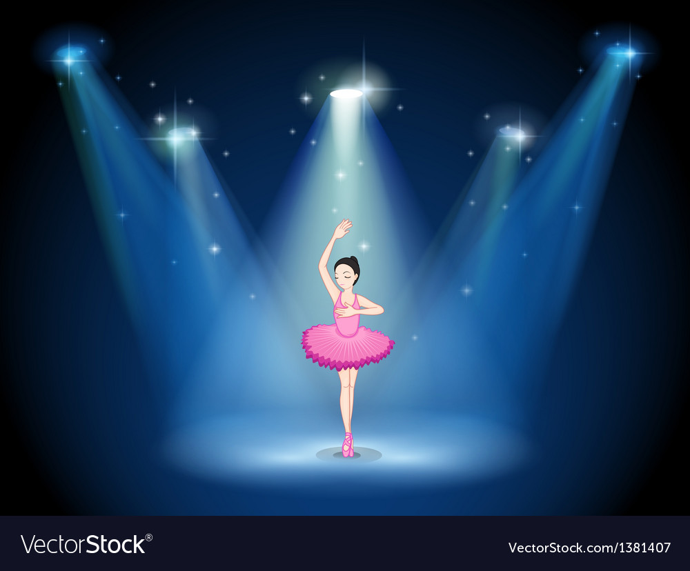 A stage with a ballet dancer in the middle