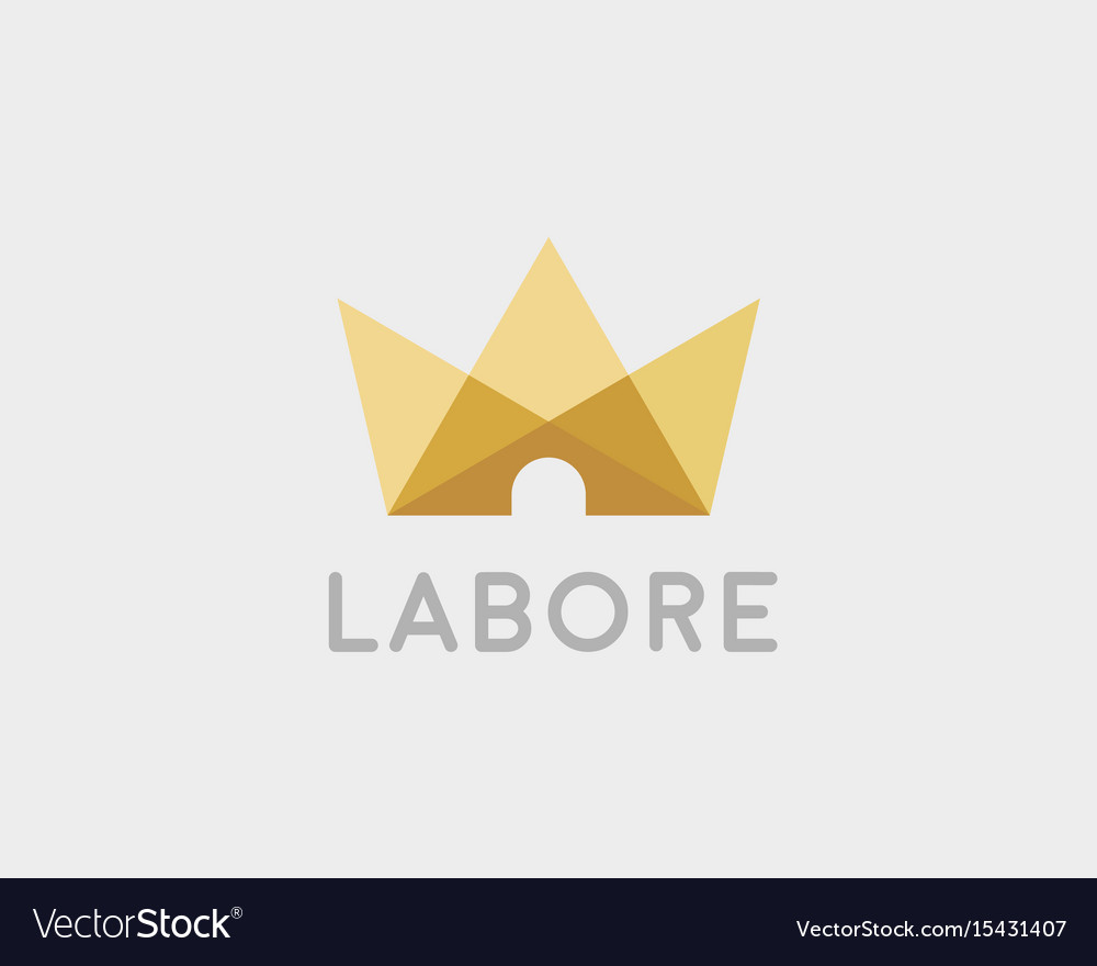 Abstract crown house logo icon design