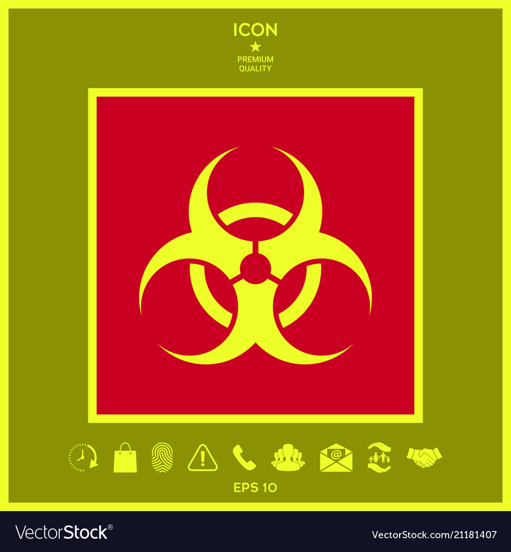 biological hazard sign royalty free vector image