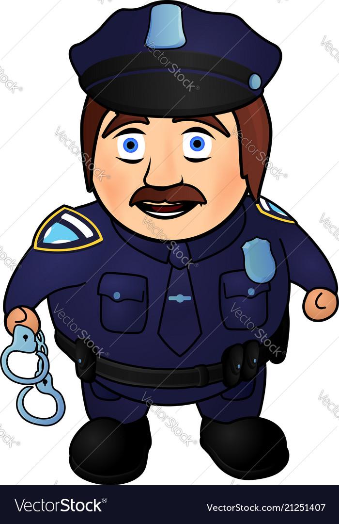Cartoon smiling policeman