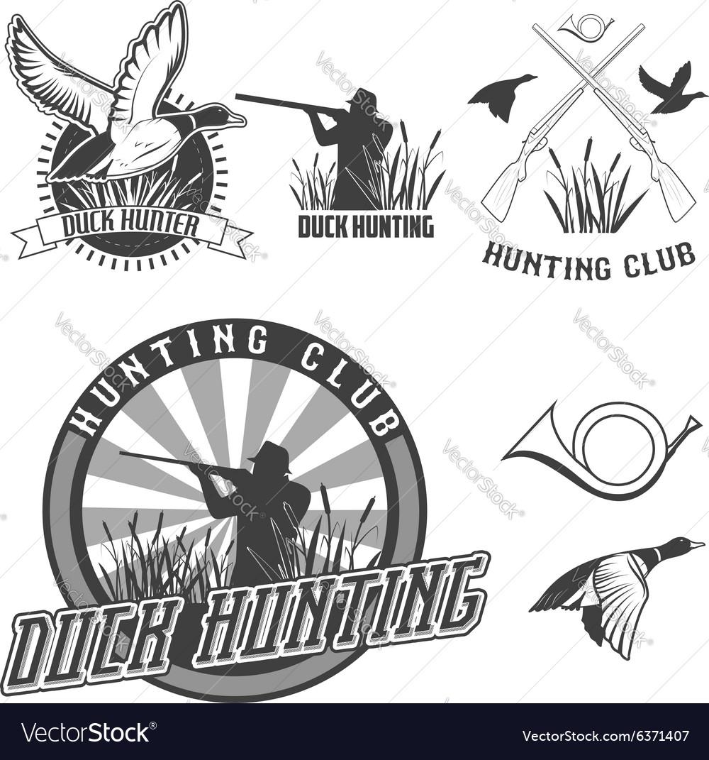 Duck hanting vector image