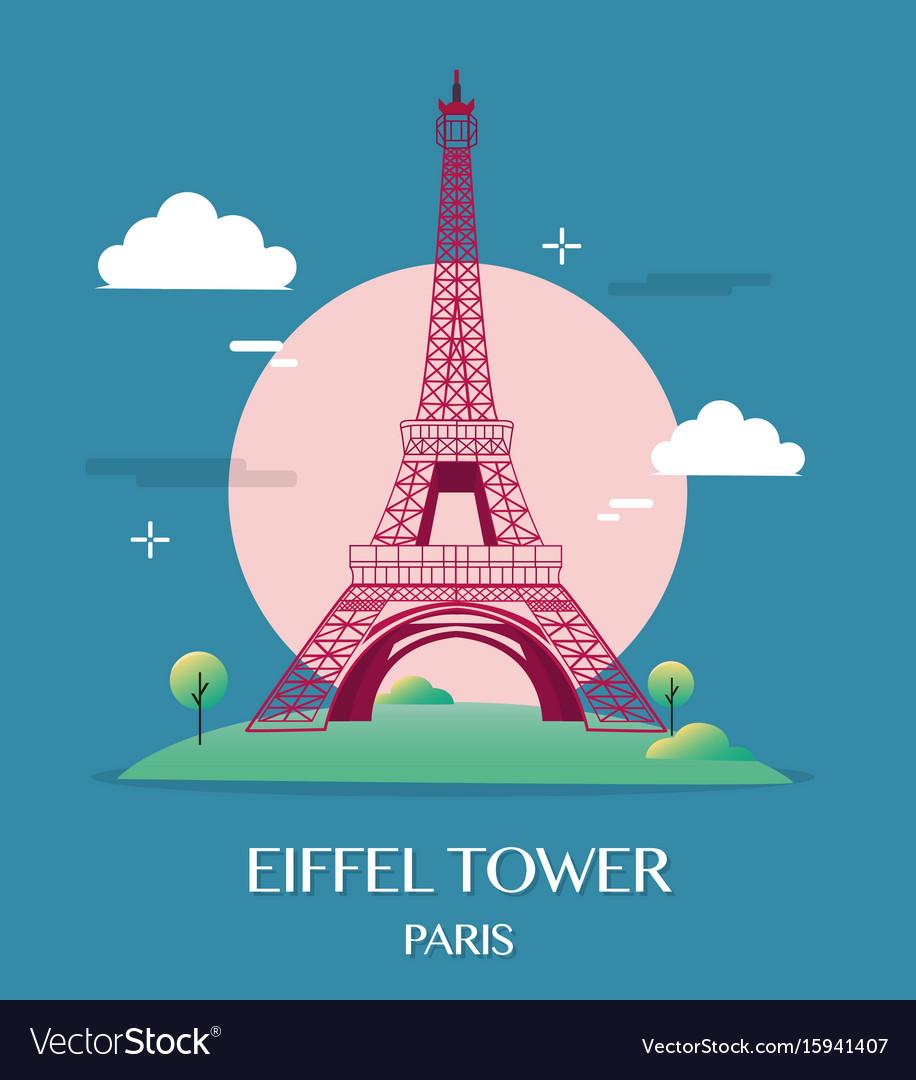 Famous landmark eiffel tower paris france