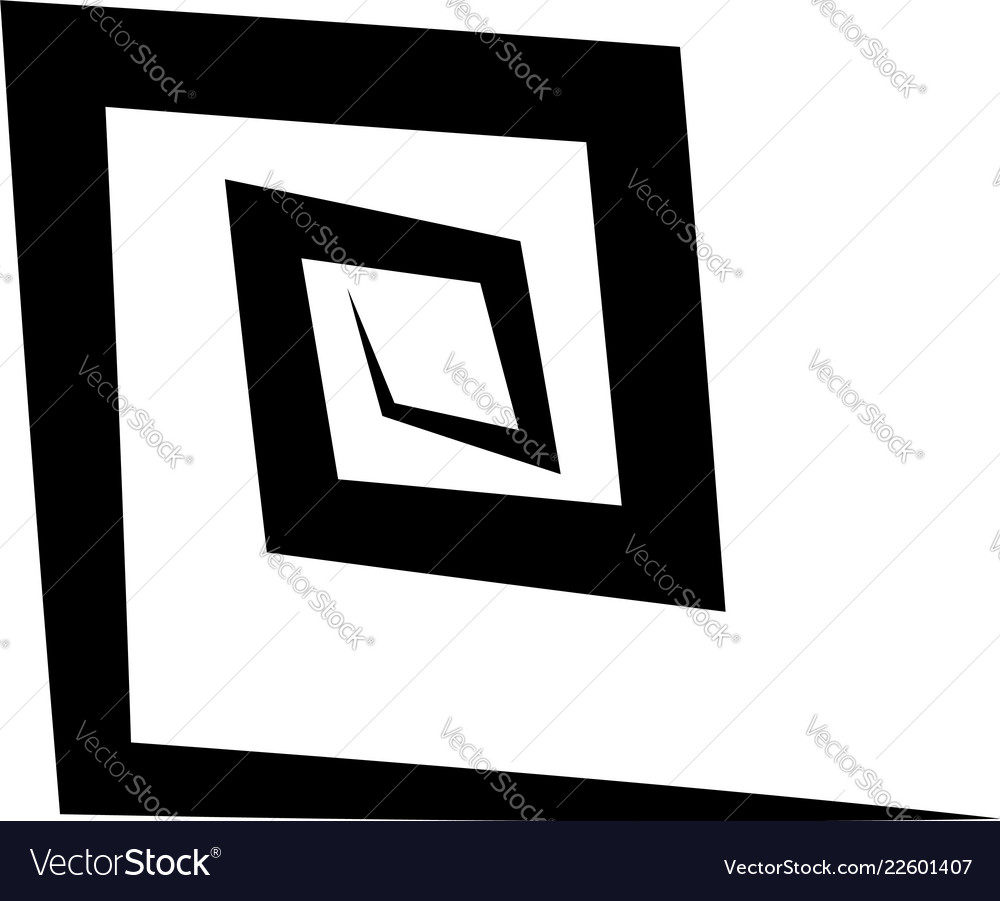 Geometric square spiral abstract spiral element