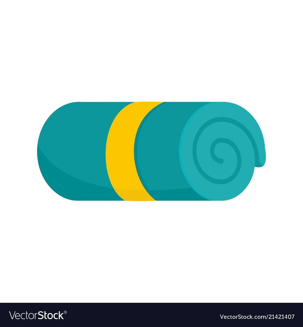Hotel towel icon flat style